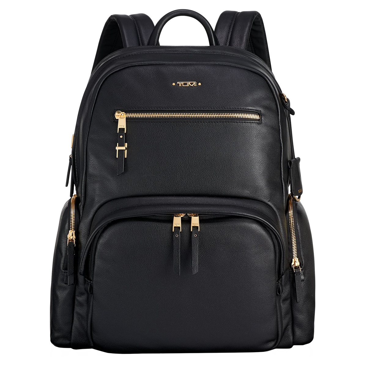 Tumi Voyageur Black Leather Carson Backpack 1100171041
