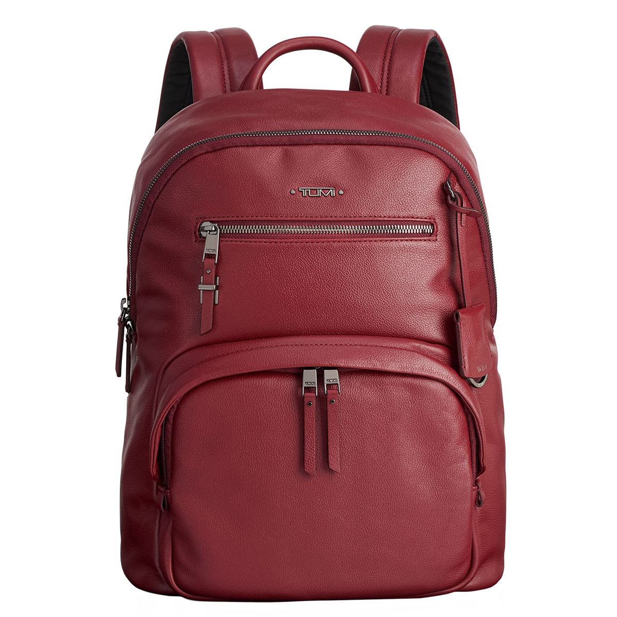 Tumi Voyageur Brick Red Leather Hagen Backpack 1100181129