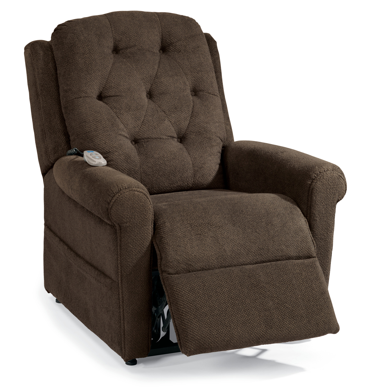 Flexsteel Dora Brown Fabric Lift Recliner Chair