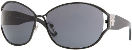 Versace Black Shield Ladies Sunglasses - VE02115_1009_87