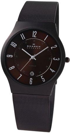 Skagen Brown Titanium Mens Watch - 233XLTMD
