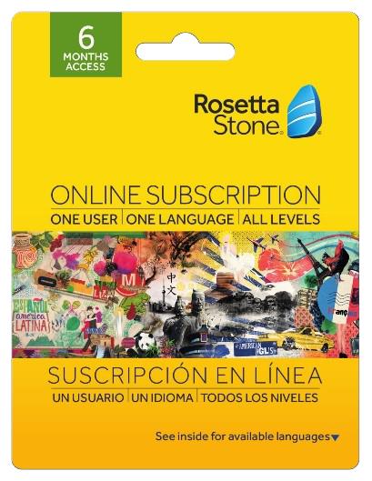 Rosetta Stone 6 Month Online Subscription