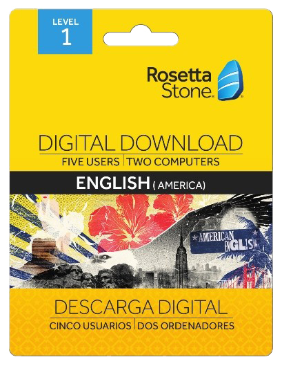 Rosetta Stone Level 1 English Digital Download