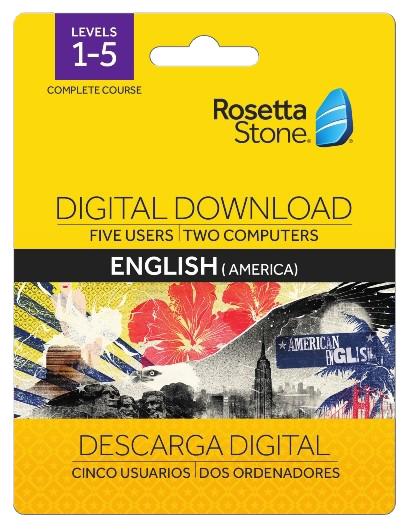 Rosetta Stone Levels 1-5 English Digital Download