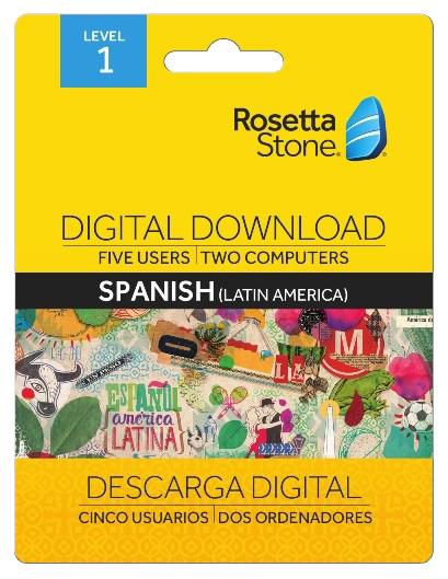 Rosetta Stone Level 1 Spanish Digital Download