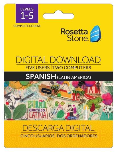 Rosetta Stone Levels 1-5 Spanish Digital Download