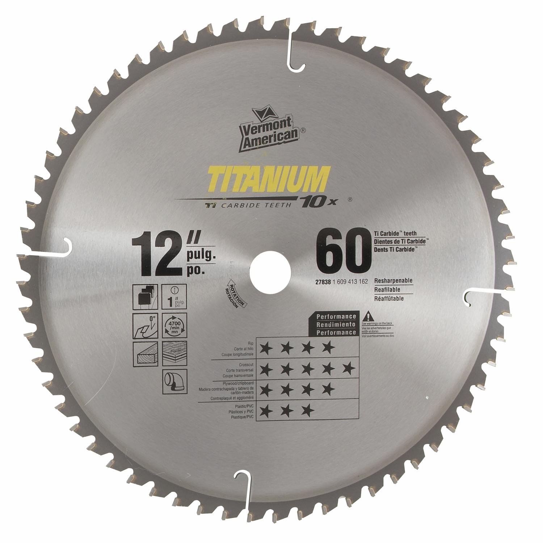 "Vermont American 12"" Titanium Circular Saw Blade"