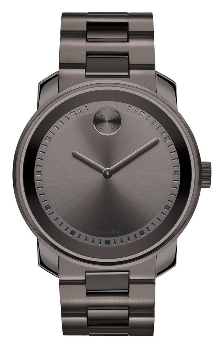 Movado Large Bold 42.5mm Gunmetal Gray Mens Watch -  3600259