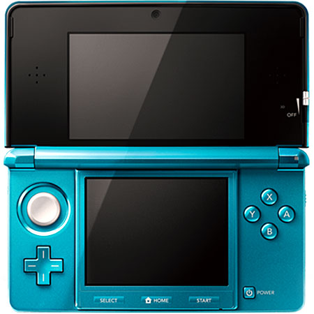 Nintendo 3DS Aqua Blue Portable Gaming System - CTRSBAAA