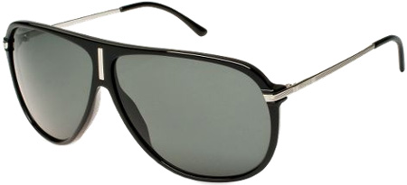 Versace Black Frame Aviator Unisex Sunglasses - 4165 GB18 7