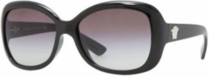 Versace Black Square Gradient Womens Sunglasses - 4187GB111