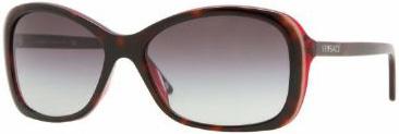 Versace Large Havana Frame Ladies Sunglasses - 418988611A