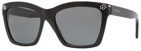 Versace Plastic Black Square Womens Sunglasses - VE04213B_GB1_87