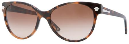 Versace Cat Eye Havana Womens Sunglasses - VE4214