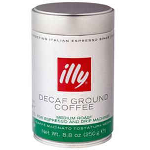 Illy Ground Espresso Coffee Decaffeinated 8.8 Oz
