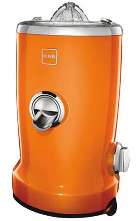 Novis Vita Juicer Orange 4-in-1 Multi-Function Electric Juicer with Bonus Tuttle Juices and Smoothies Cookbook