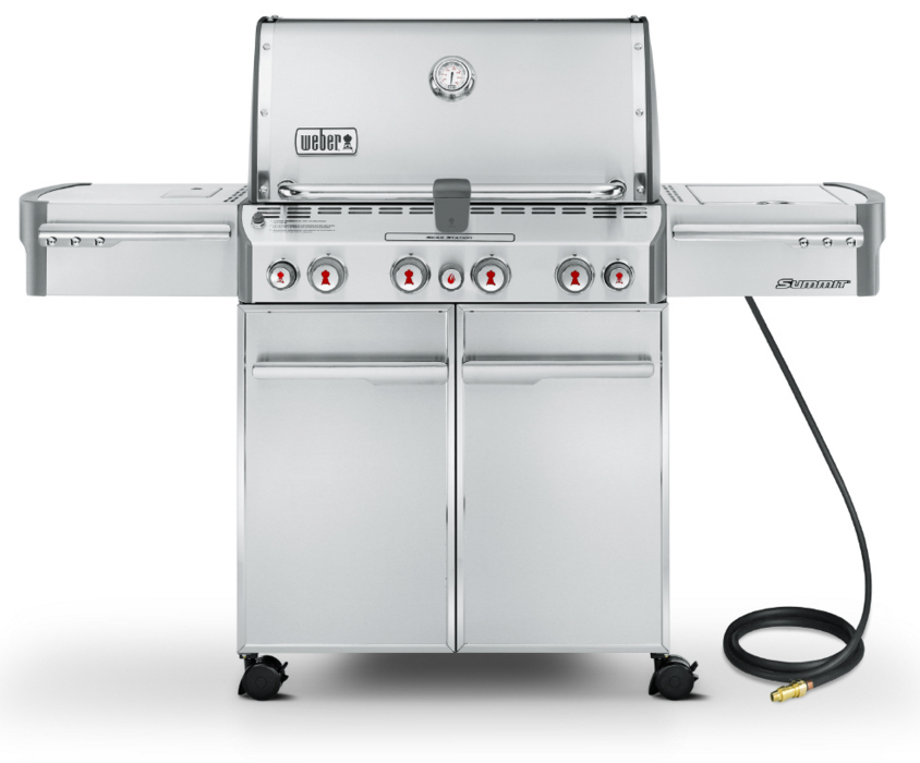 Weber Summit S-470 Natural Gas Stainless Steel Outdoor Grill