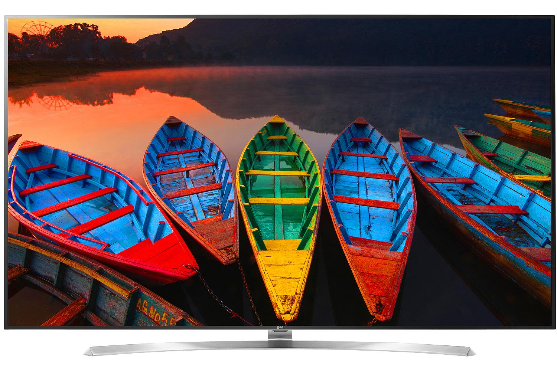 "LG 75"" Silver Super UHD 4K LED 3D Smart HDTV With WebOS 3.0"