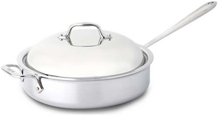 All Clad 4 Quart Stainless Steel Saute Pan - 8701004443