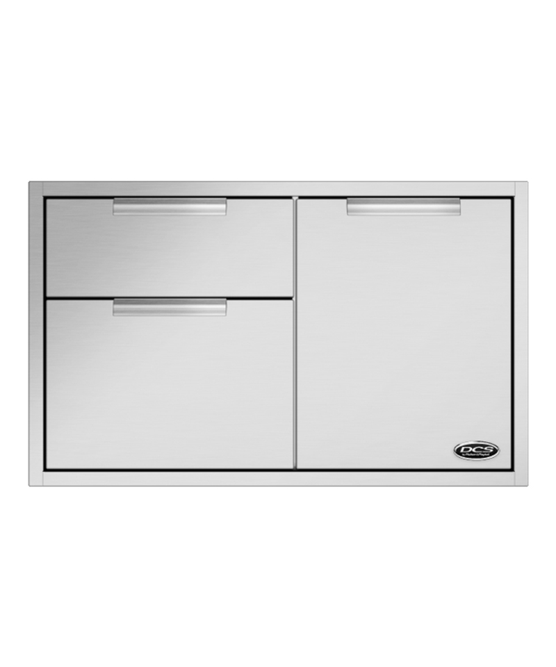 DCS Built-In Brushed Stainless Steel Access Drawers