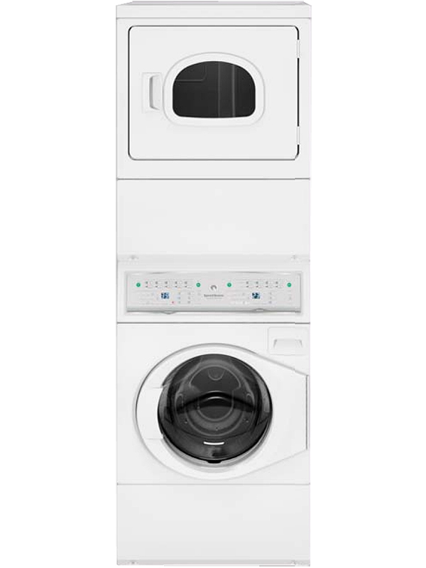 SPEED QUEEN White Commercial Gas Washer And Dryer Combo - ATGE9AGPWH - ATGE9AGP113