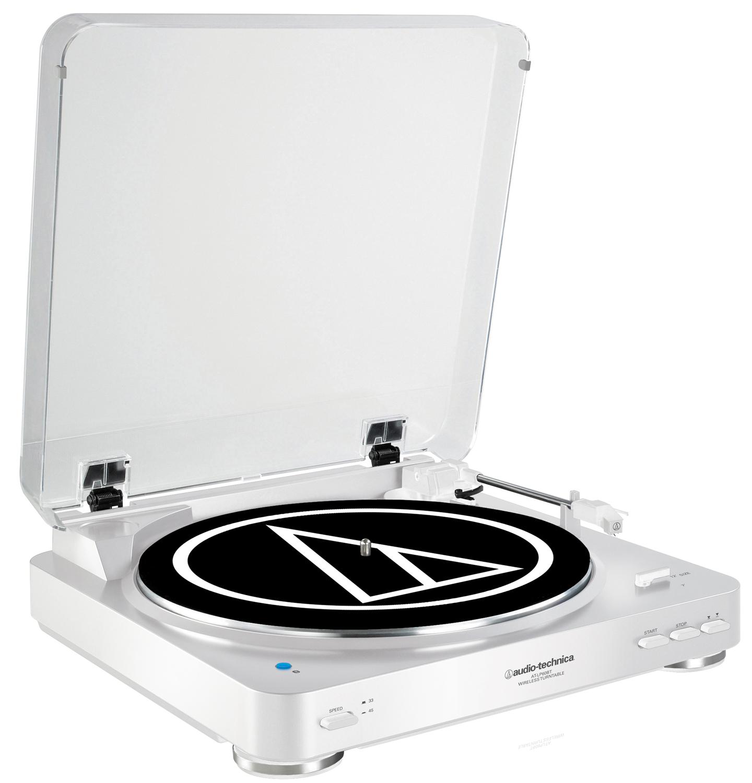 Audio-Technica White Fully Automatic Wireless Belt-Drive ...