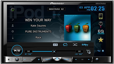 Pioneer's AVH-P8400BH offers Mixtrax and Advanced App Mode