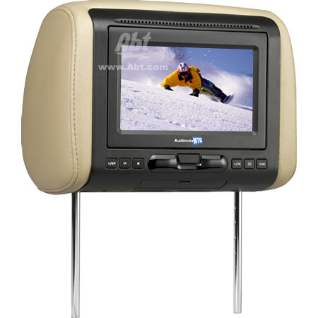 "Audiovox 7"" Built-In DVD Player Black Headrest Monitor"