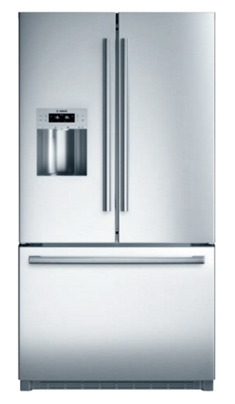 "Bosch 36"" Stainless Steel French Door Bottom-Freezer Refr..."