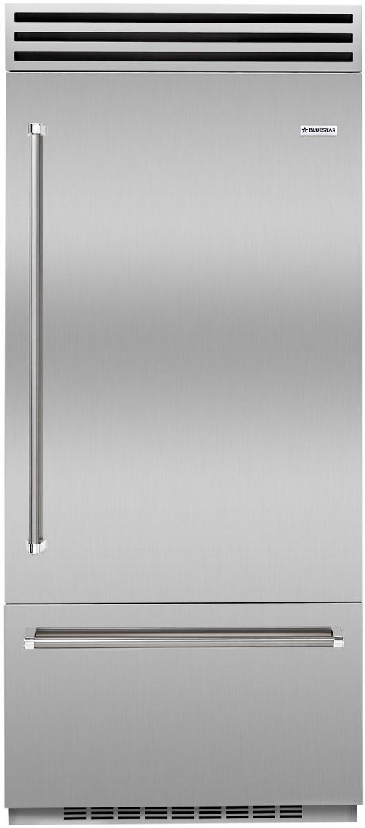 """BlueStar 36"""" Built-In Stainless Steel Right Hinge Refrige..."""