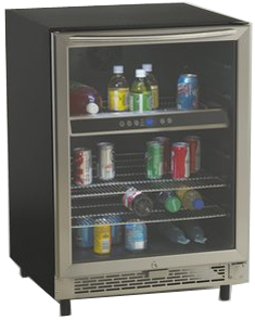 Avanti 5.1 Cu Ft Stainless Beverage Cooler