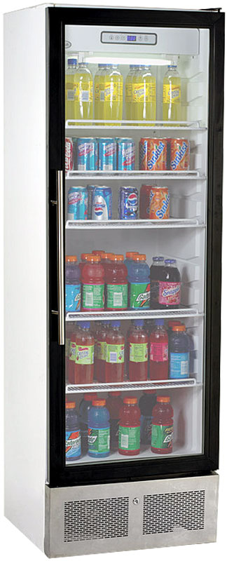 Avanti White Showcase Beverage Cooler - BCAD338