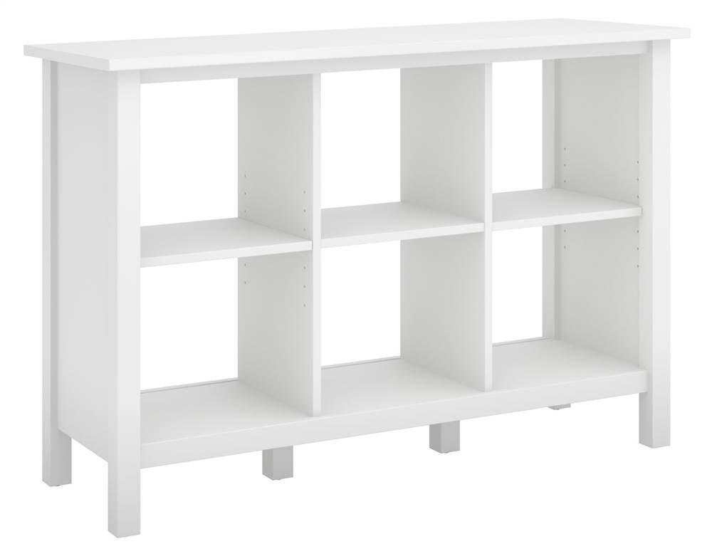 Bush Furniture Broadview White 6 Cube Bookcase