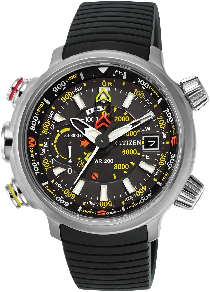 Citizen Eco-Drive Black Promaster Altichron Mens Watch