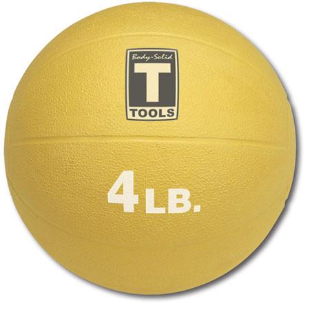 Body Solid BSTMB4) 4 lb Rubber Medicine Ball