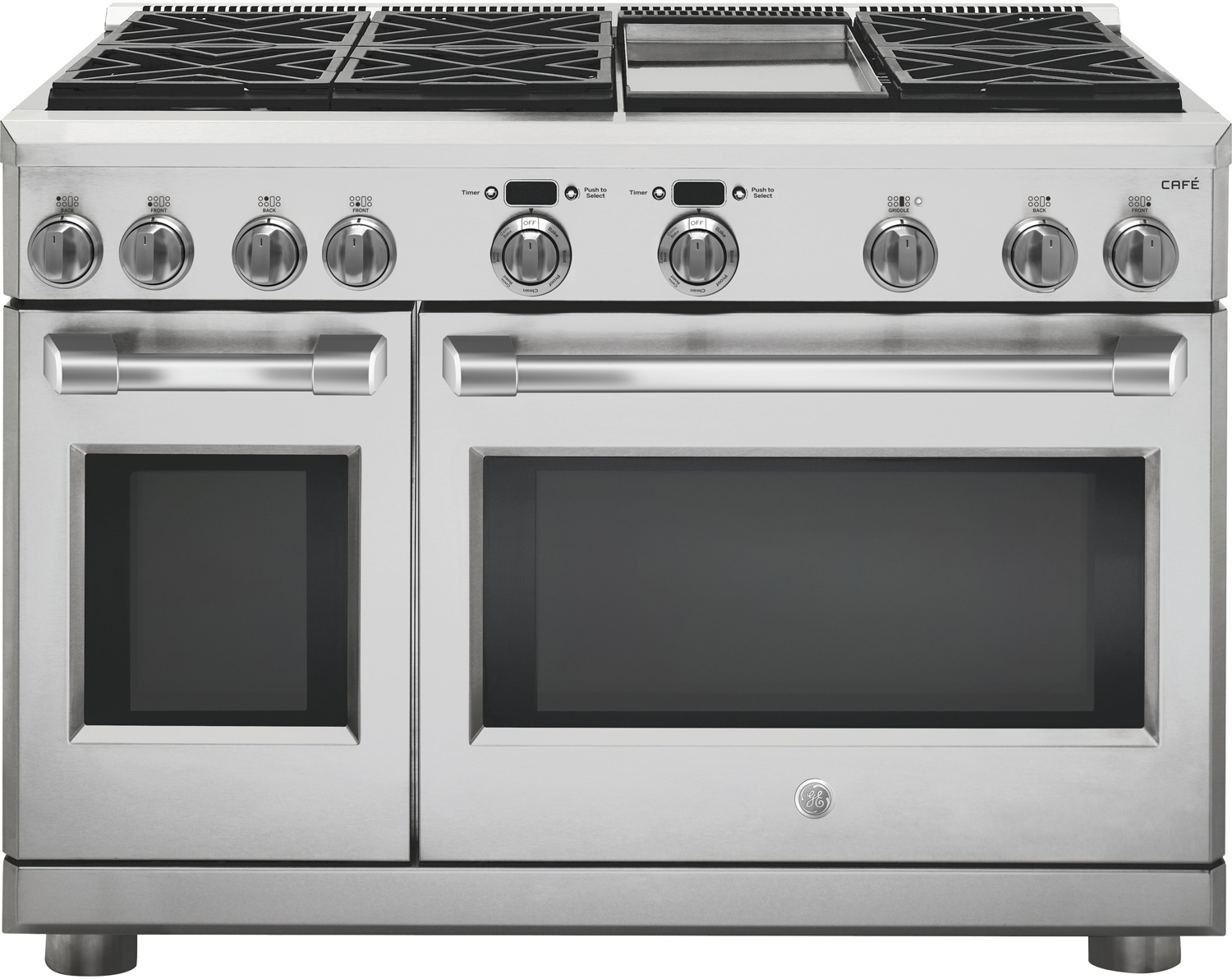 Ge Cafe 48 Quot Pro Stainless Dual Fuel Range C2y486sdlss