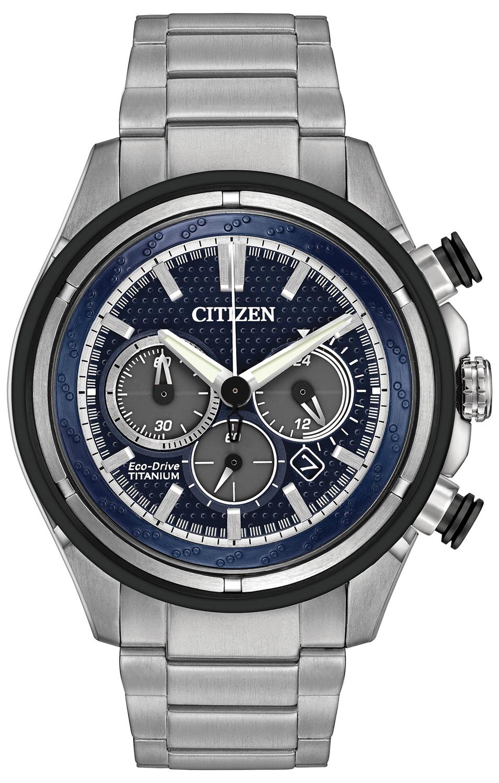 Citizen Eco-Drive Titanium Chronograph Mens Watch