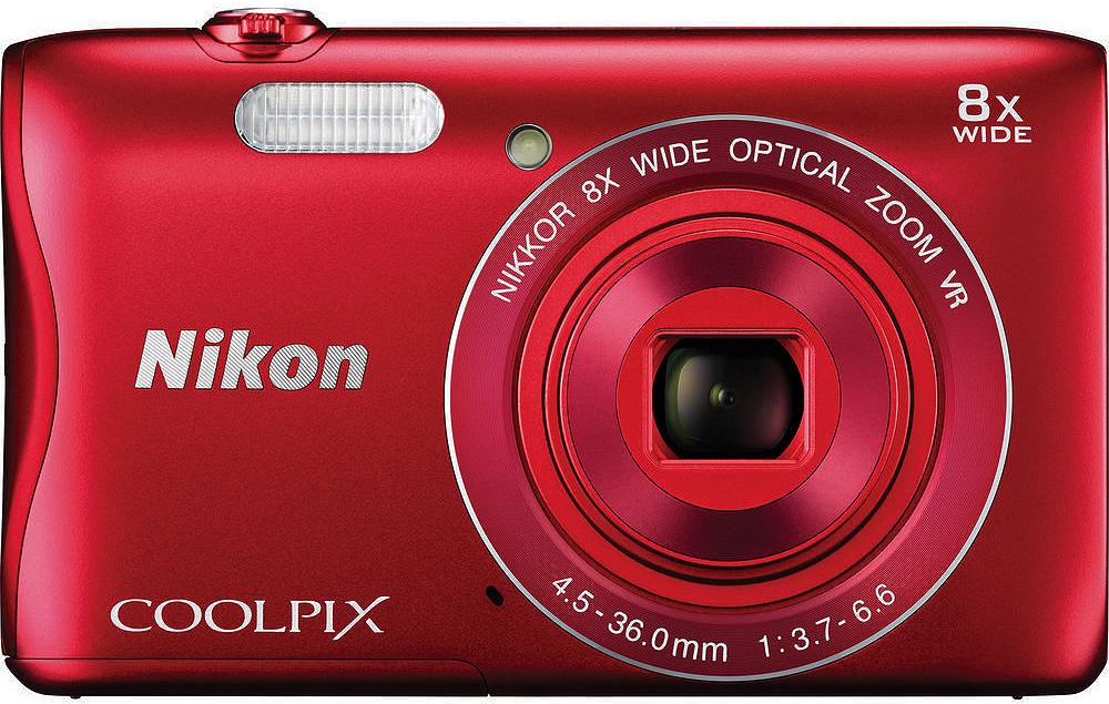 Nikon Coolpix S3700 20.1 Megapixel Red Digital Camera