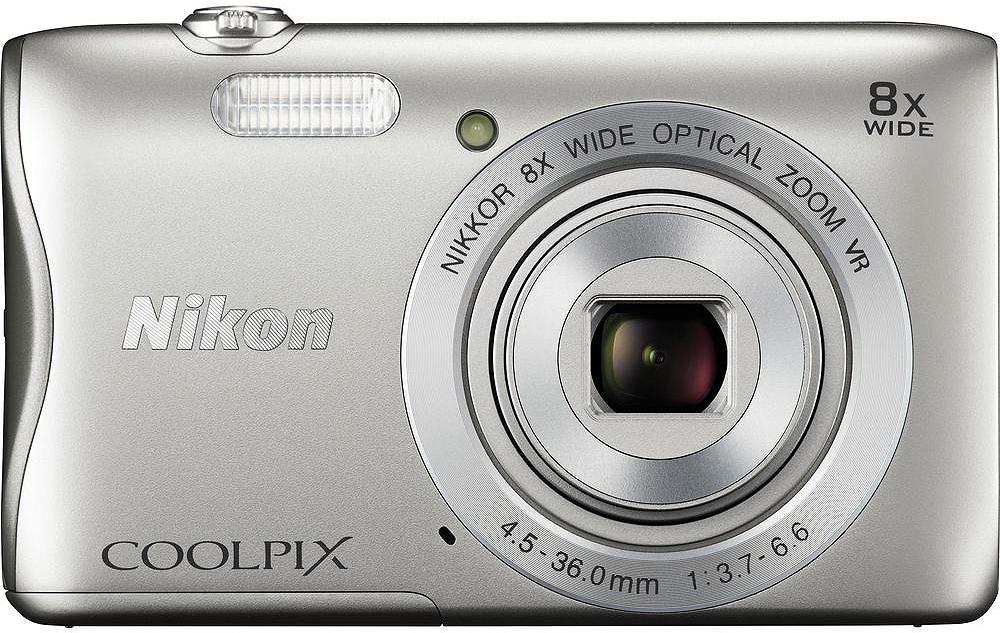 Nikon Coolpix S3700 20.1 Megapixel Silver Digital Camera