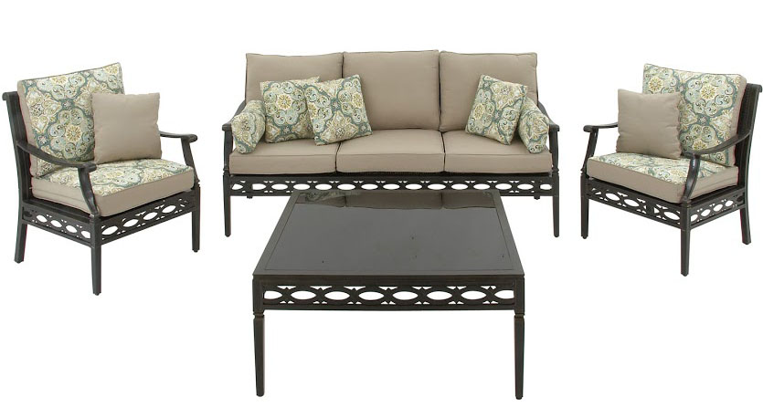 Hanover Cortez 4-Piece Outdoor Seating Patio Set