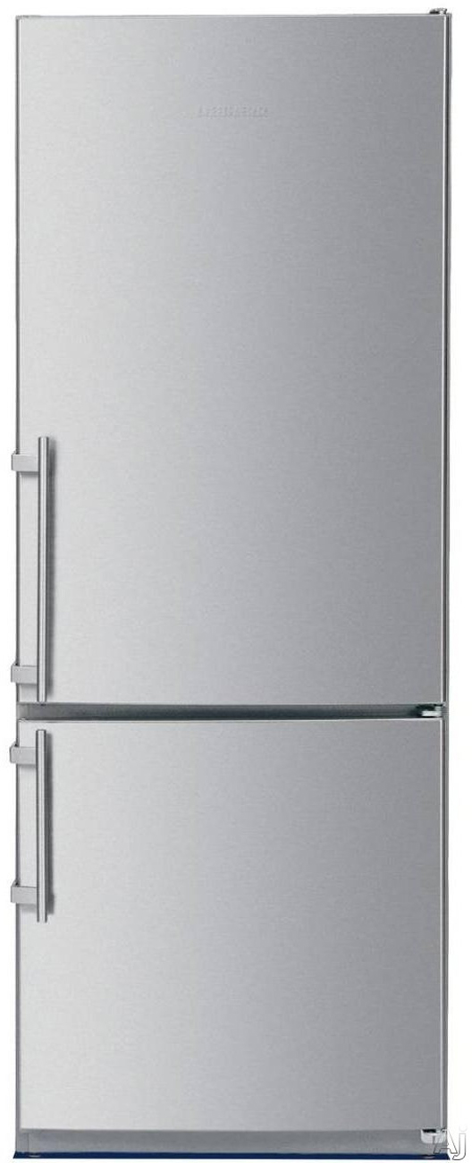 """Liebherr CS1200 24"""" Star K Energy Star Bottom Freezer Refrigerator with 11.46 cu. ft. Capacity SuperFrost Door Storage Acoustic Door and Temperature Alarm: Stainless Steel with Right Hinge"""