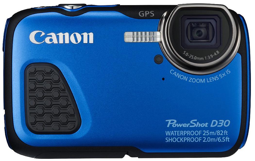 Canon PowerShot D30 Blue 12.1 Megapixel Waterproof Digita...