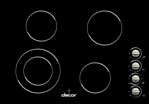 "Dacor Distinctive 30"" Black Electric Cooktop"