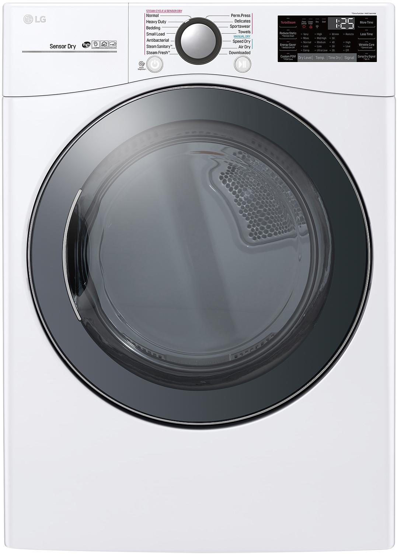 Lg 7 4 Cu Ft White Electric Steam Dryer Dlex3900w