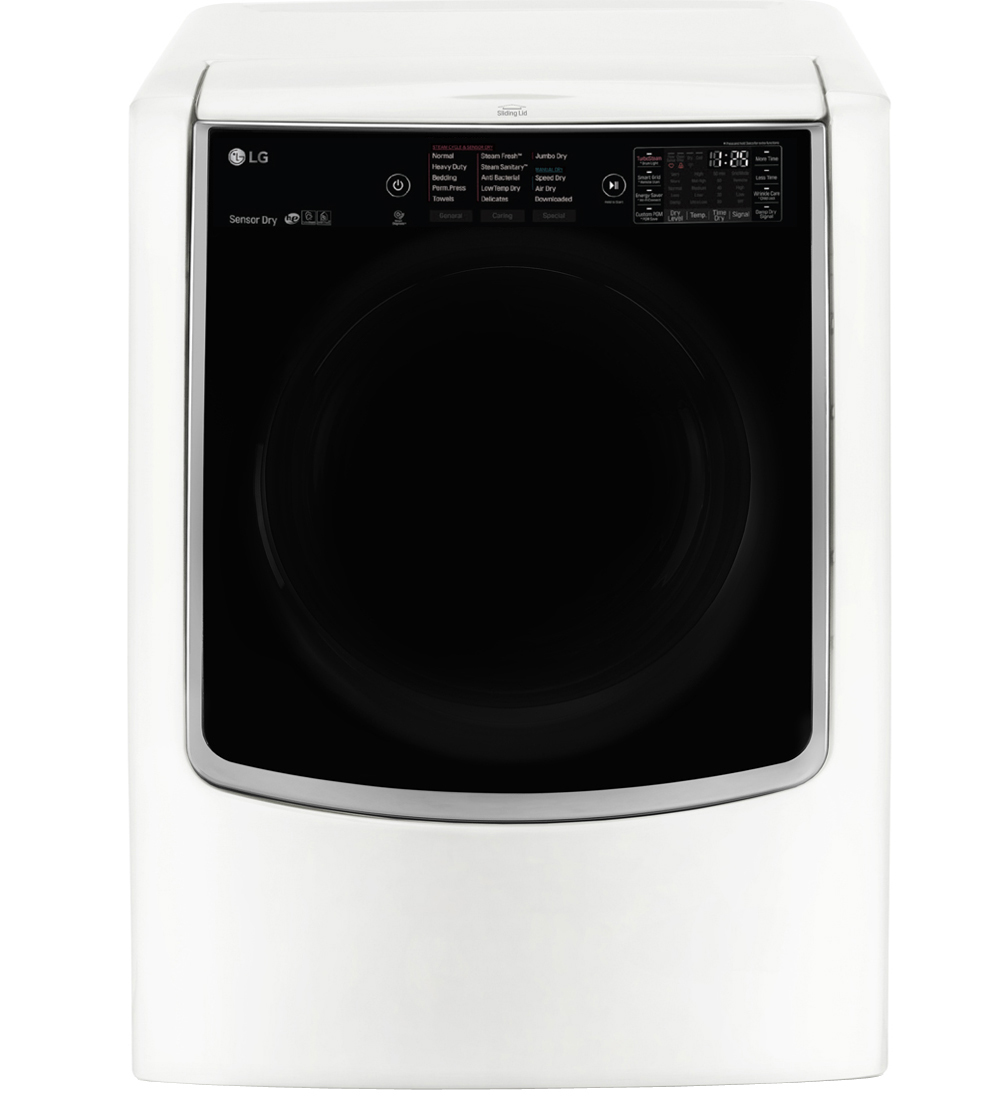 LG White TurboSteam Gas Dryer