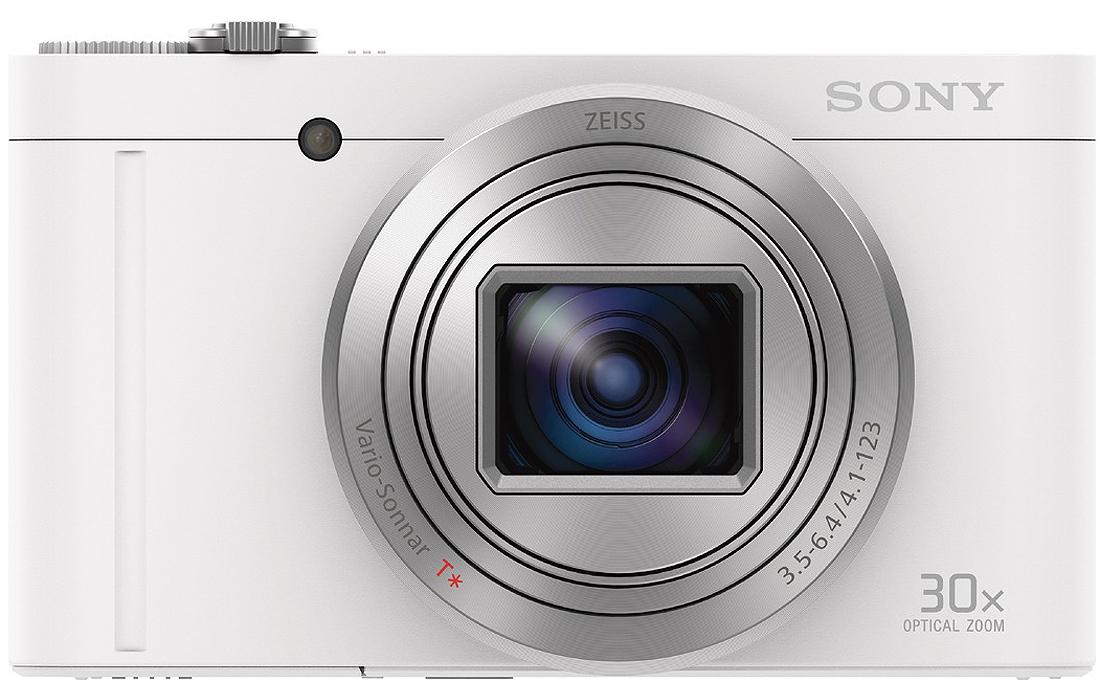 "Sony DSC-WX500 Digital Camera- White, 18MP, 30X, HD, Wi-Fi, NFC, 3"", 10fps"