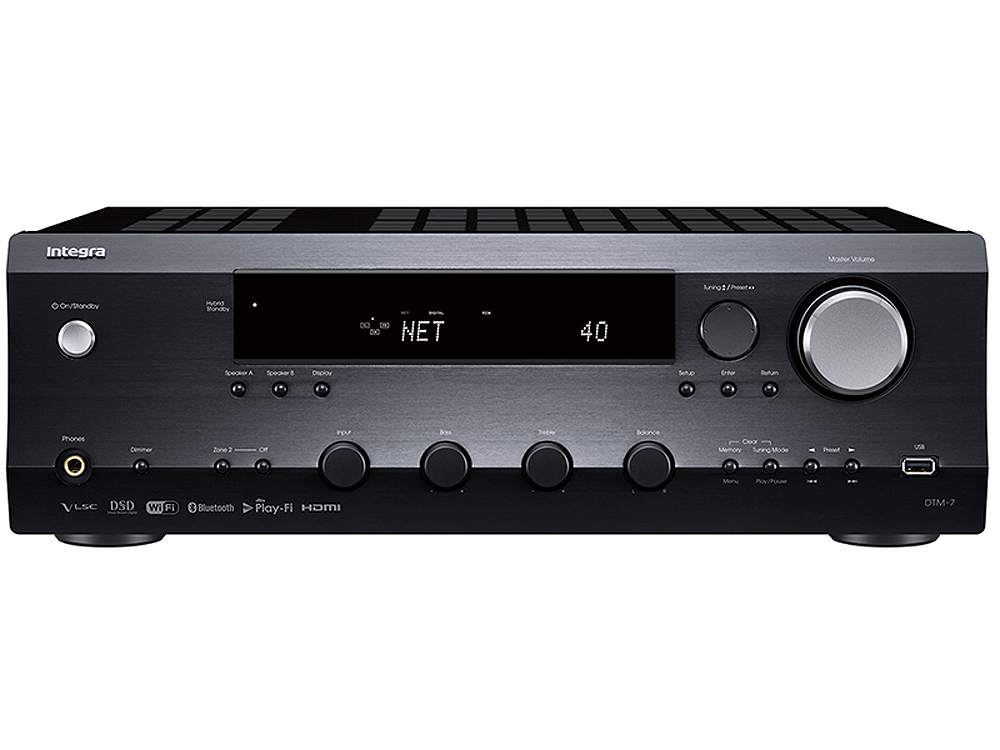 Integra Black Network Stereo Receiver -  DTM-7