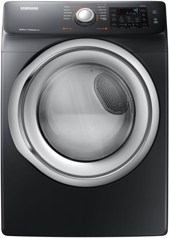Samsung Black Stainless Steel Electric Dryer DVE45N5300V