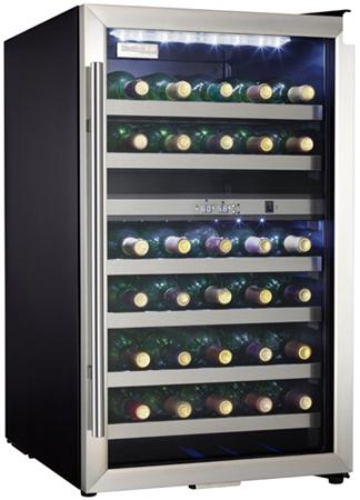 Danby 38 Bottle Stainless Steel Wine Cooler - DWC114BLSDD