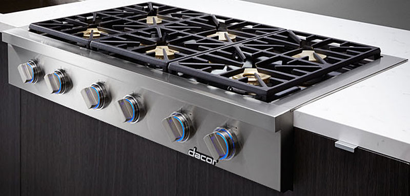 "Dacor Discovery 48"" Stainless Steel Gas Rangetop"